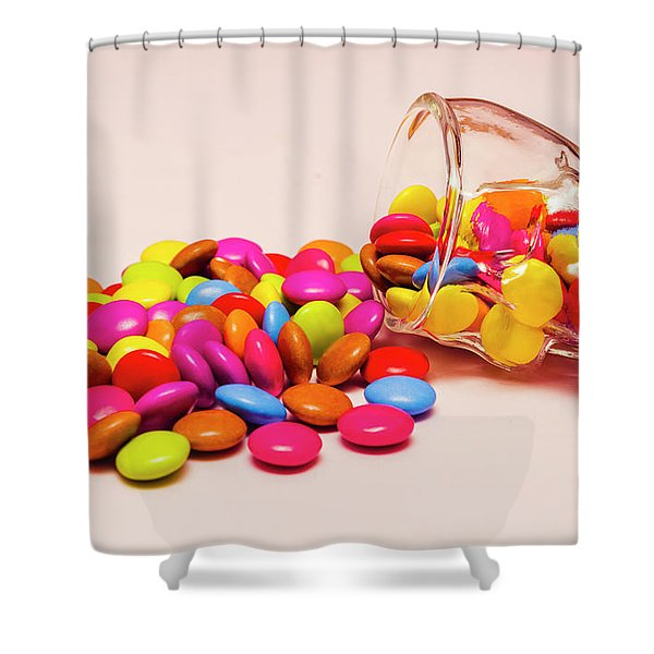 Trick Or Treat Halloween Sweets Shower Curtain