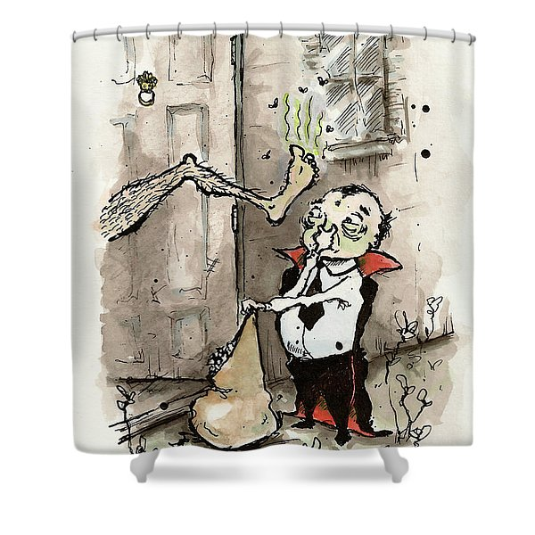 Trick Or Treat, Smell My Feet Shower Curtain