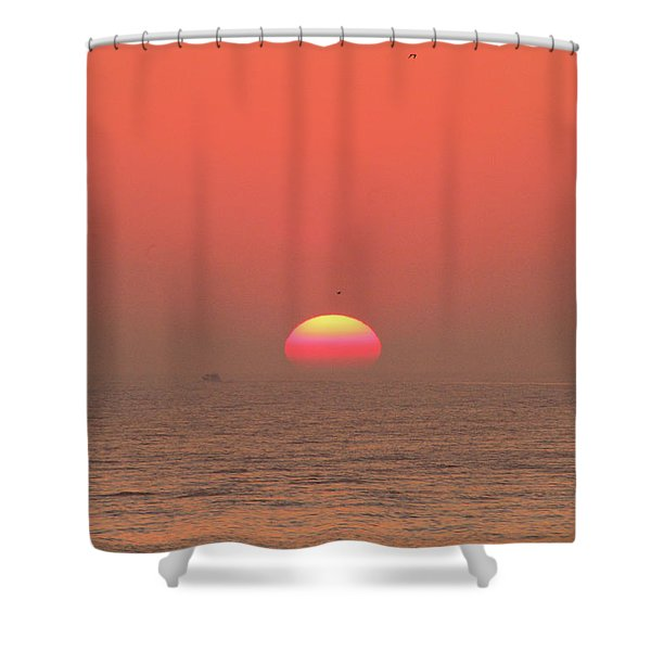 Tricolor Sunrise Shower Curtain