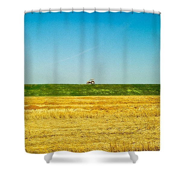 Tricolor With Tractor Shower Curtain