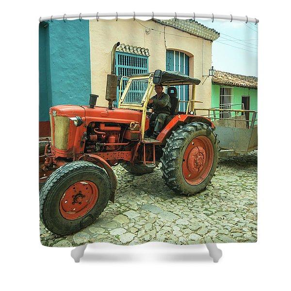 Trinidad Tractor  Shower Curtain