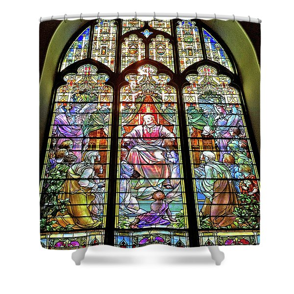 Trinity Church Galveston Shower Curtain