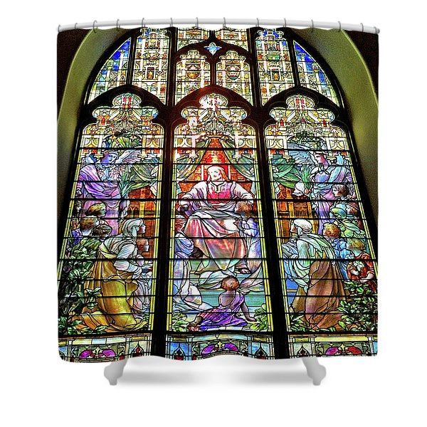 Trinity Church Galveston Shower Curtain