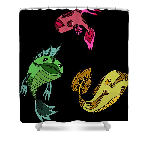 Trio Fish Shower Curtain
