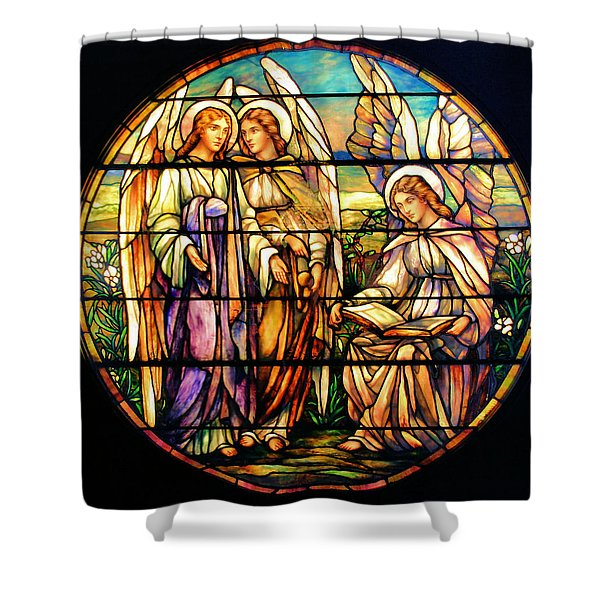 Trio Of Angels Shower Curtain