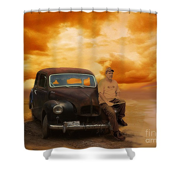 Trippin' With My '48 Austin A40 Shower Curtain
