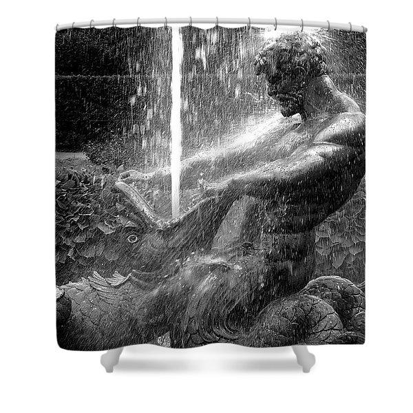 Triton Fountain Shower Curtain