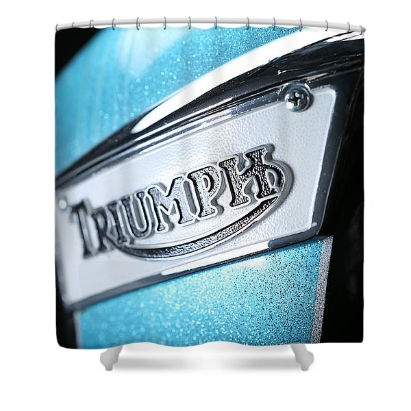 Triumph Badge Shower Curtain