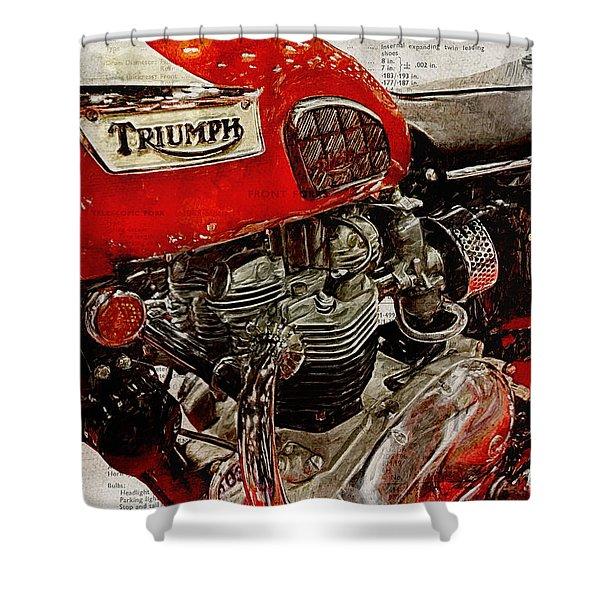 Triumph Bonneville T120 1969 Shower Curtain
