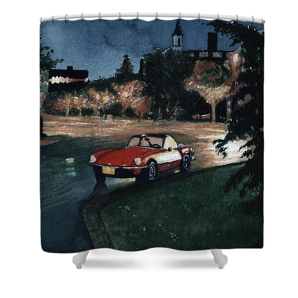 Triumph By Night Shower Curtain