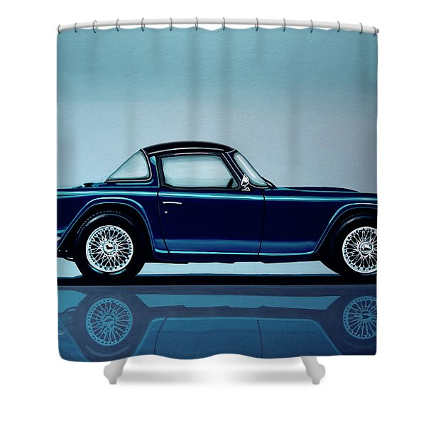 Triumph Tr5 1968 Painting Shower Curtain