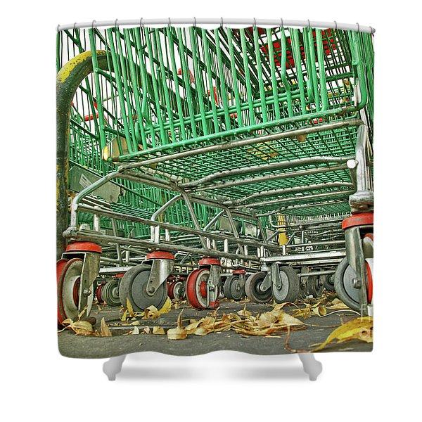 Trolley Convoy Shower Curtain