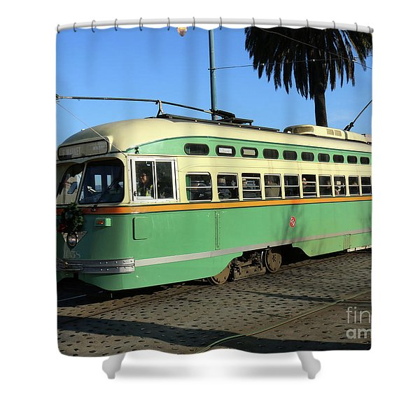 Trolley Number 1058 Shower Curtain