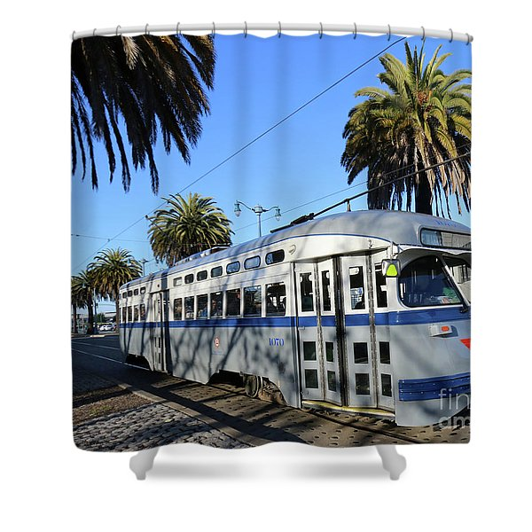 Trolley Number 1070 Shower Curtain