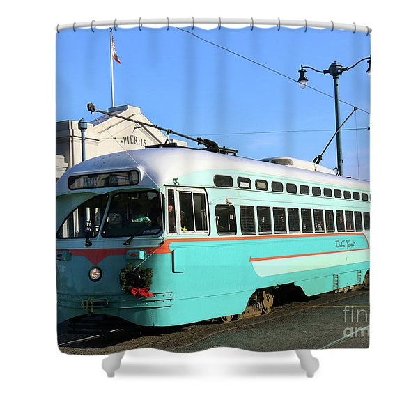 Trolley Number 1076 Shower Curtain
