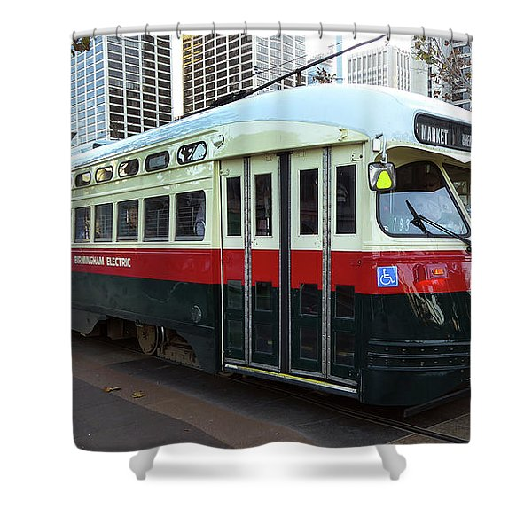 Trolley Number 1077 Shower Curtain