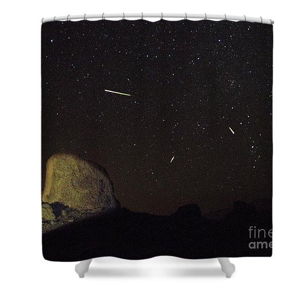 Trona Pinnacles Perseids Meteor Shower Shower Curtain
