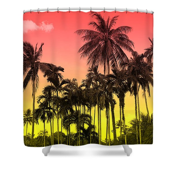 Tropical 9 Shower Curtain