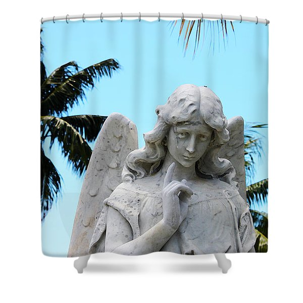 Tropical Angel With Tear Shower Curtain