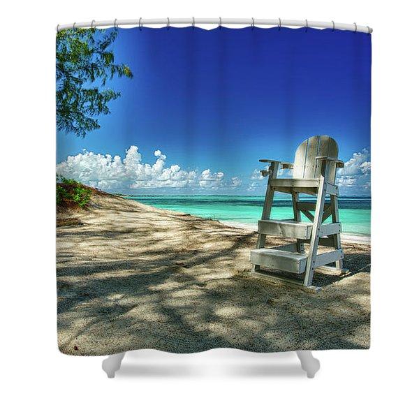 Tropical Beach Chair Shower Curtain