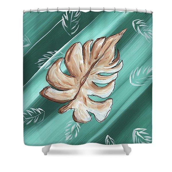 Tropical Dance 1 By Madart Shower Curtain by Megan Duncanson