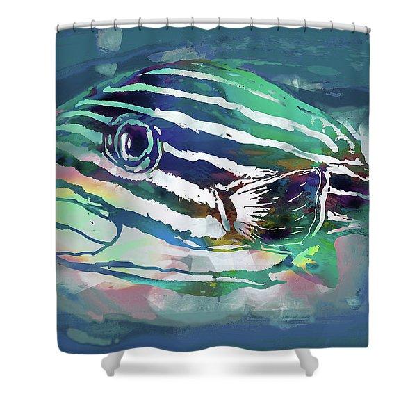Tropical Fish - New Pop Art Poster Shower Curtain