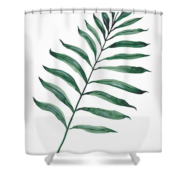 Tropical Greenery - Palm Tree Leaf Shower Curtain