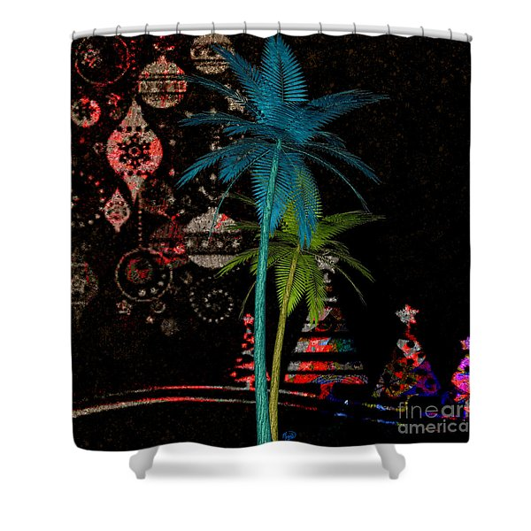 Tropical Holiday Red Shower Curtain