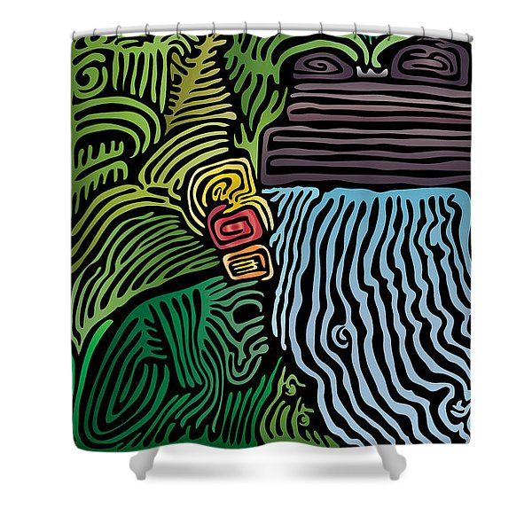 Tropical River Shower Curtain