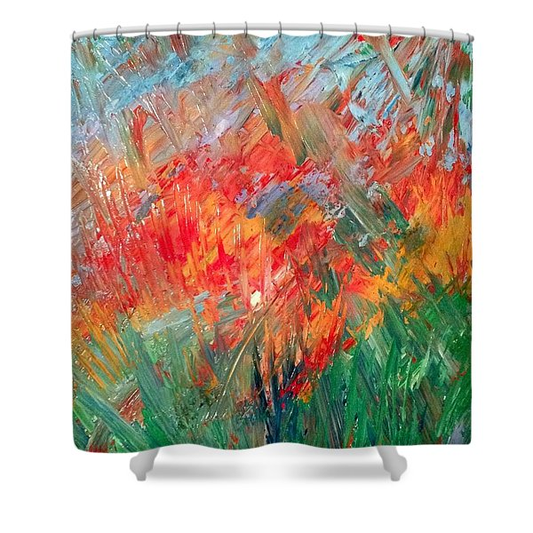 Tropical Stained Glass Shower Curtain