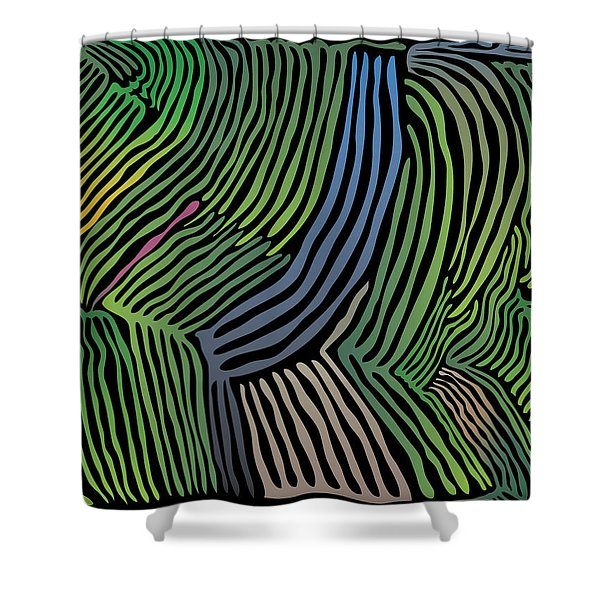 Tropical Striations Shower Curtain
