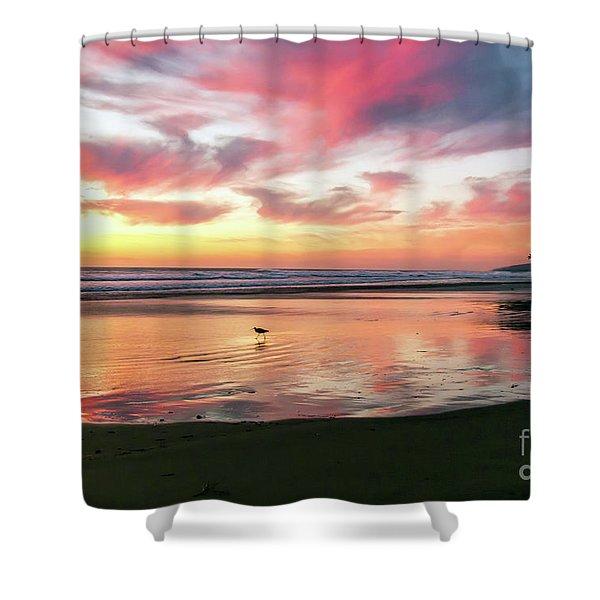 Tropical Sunset Island Bliss Seascape C8 Shower Curtain