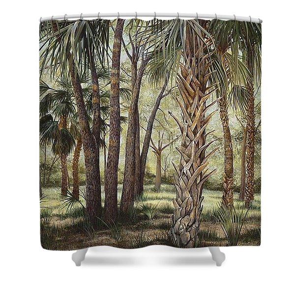 Tropical Trail's End Shower Curtain