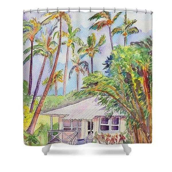 Tropical Waimea Cottage Shower Curtain