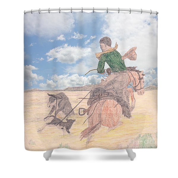Trouble In Bunches Classic Shower Curtain