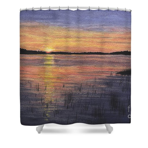 Trout Lake Sunset II Shower Curtain