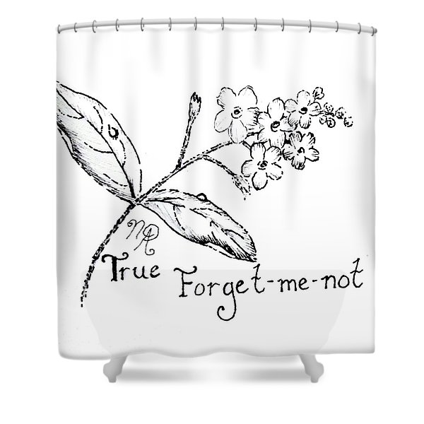 True Forget-me-not Shower Curtain