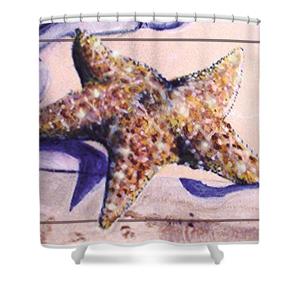 Trum L'oeil.star Fish Shower Curtain