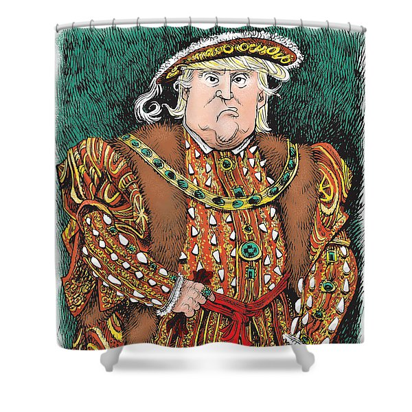 Trump As King Henry Viii Shower Curtain