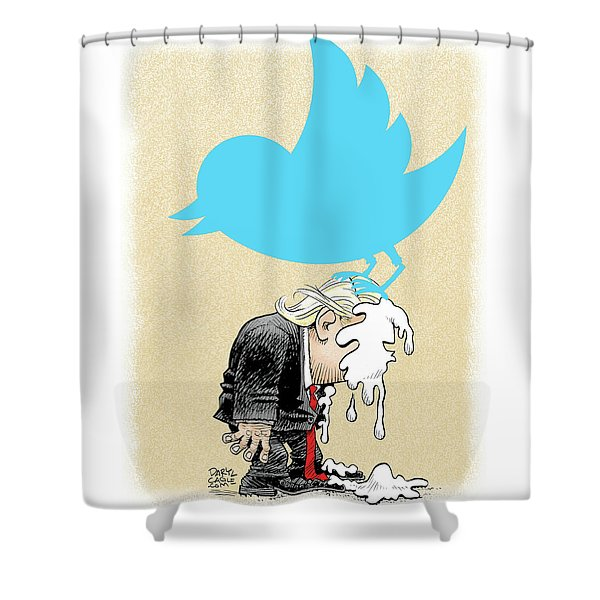 Trump Twitter Poop Shower Curtain