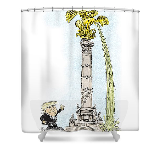 Trump Visits Mexico Shower Curtain