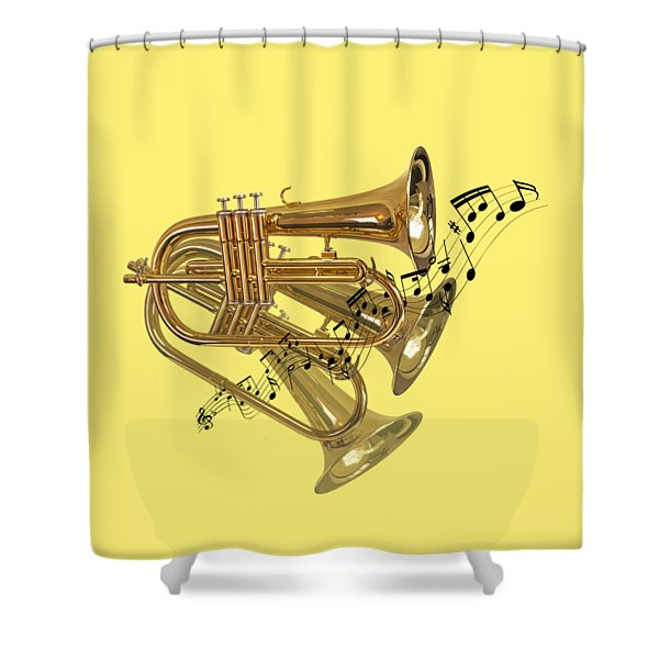 Trumpet Fanfare Shower Curtain