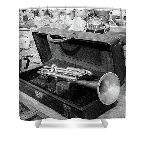 Trumpet For Sale Shower Curtain