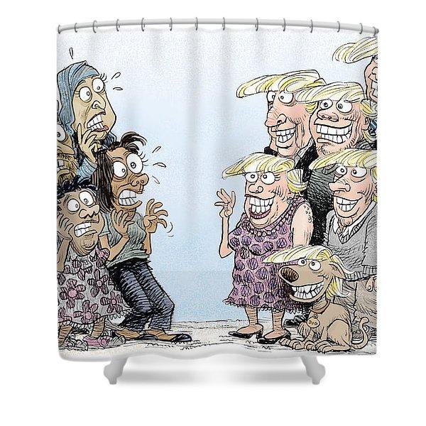 Trumpettes Horror Shower Curtain