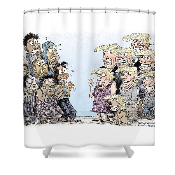 Trumpettes Horror Shower Curtain