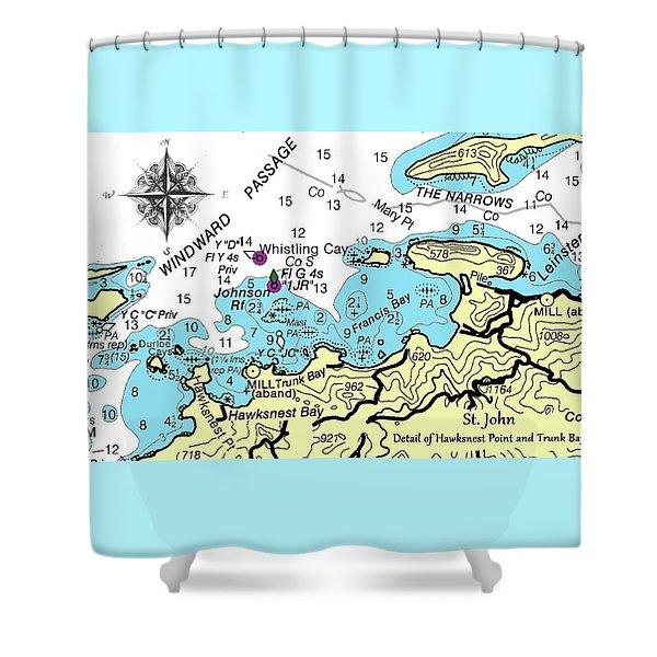 Trunk Bay, St. John Shower Curtain
