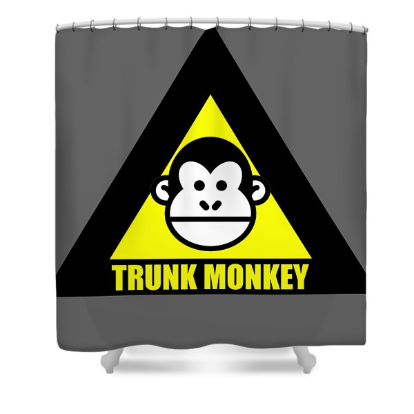Trunk Monkey Shower Curtain