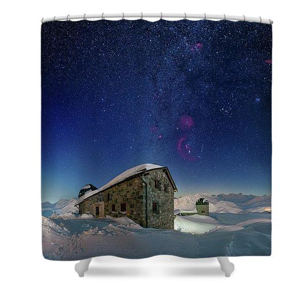 Tschuggen Observatory Shower Curtain