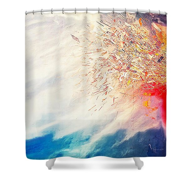 Shower Curtain featuring the painting Tsunami by Mark Taylor