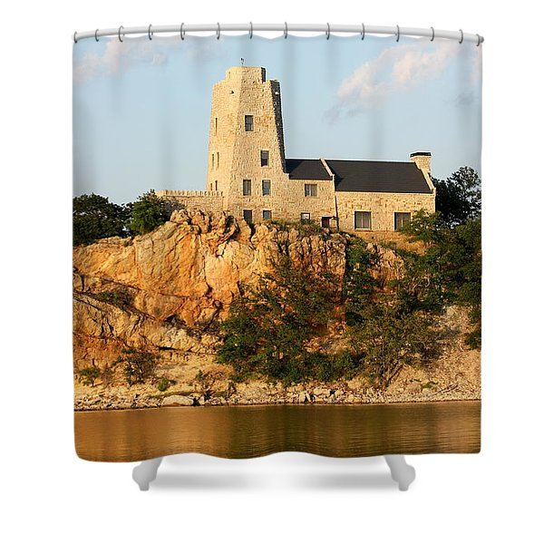 Tucker's Tower Lake Murray Oklahoma Shower Curtain